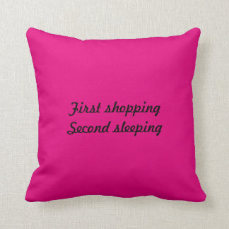 2 kissing. First shopping Second sleeping Throw Pillow