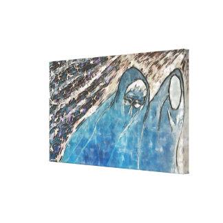 2 Ladies Canvas Print