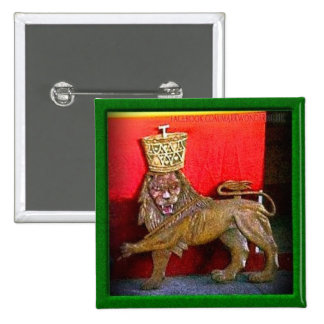"""2"""" Lion of Judah Badge 2 Inch Square Button"""