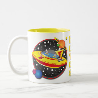 2 Man Flying Saucer Mug Design