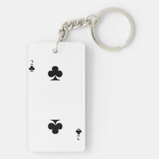 2 of Clubs Keychain