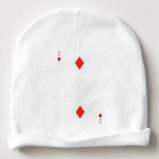 2 of Diamonds Baby Beanie