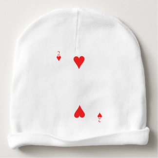 2 of Hearts Baby Beanie