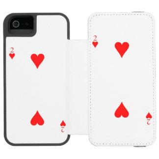 2 of Hearts Incipio Watson™ iPhone 5 Wallet Case