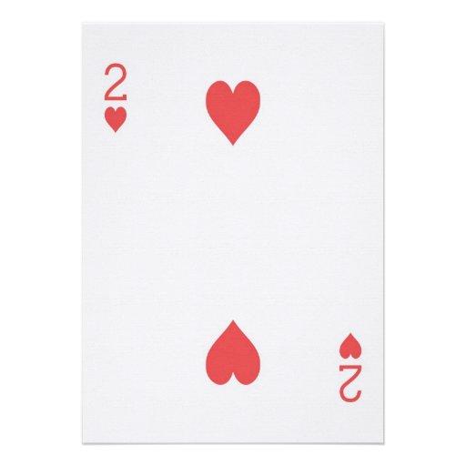 2 of Hearts Playing Card Las Vegas Wedding Invites