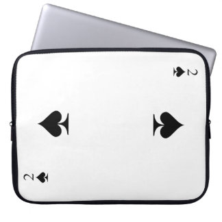 2 of Spades Laptop Sleeve