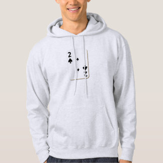 2 of Spades Playing Card Hoodies
