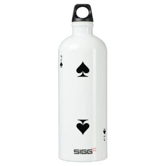 2 of Spades Water Bottle
