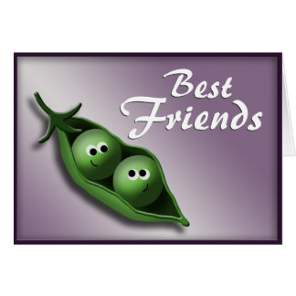 2 Peas in a Pod ~ Best Friends Notecards Note Card