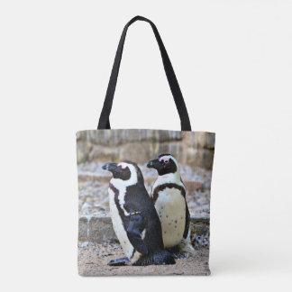 2 Penguins Tote Bag