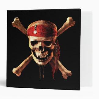 "2"" Pirates of the Caribbean Skull Logo 3 Ring Binder"
