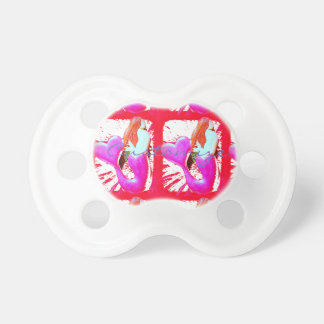 2 red heart-tailed mermaids Thunder_Cove Pacifier