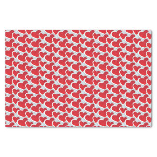 2 Red Paper Hearts in a repeating Pattern