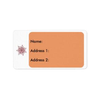 2 religieux étiquette d'adresse
