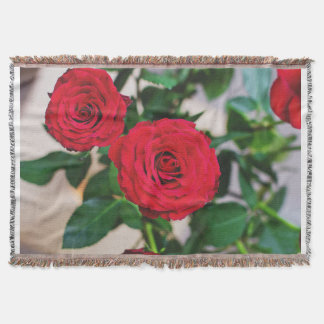 2 roses custom throw blanket
