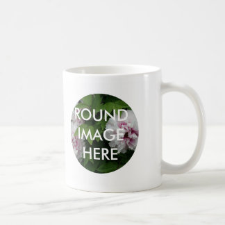 2 ROUND images (Make your own mug) Coffee Mug