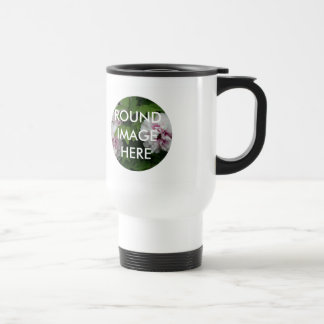 2 ROUND images (Make your own travel mug) Travel Mug
