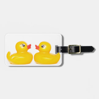 2 rubber ducks in love tag for luggage