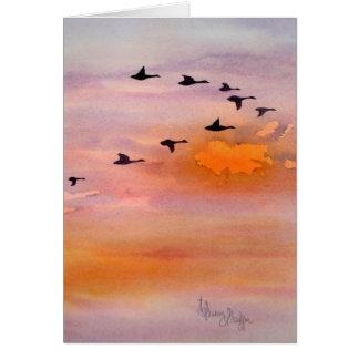 2 Samuel 23:4, Fall Sunset, Note Card