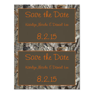 2 Save-the-Date Camo Cards