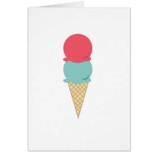 2 Scoops Of Ice Cream Note Cards