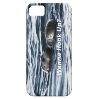 "2 Seals: ""Wanna Hook Up"" (Making a Pass) iPhone 5 Cover"