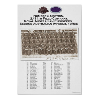 #2 Section, 2/11 Field Company, RAE unit portrait Poster