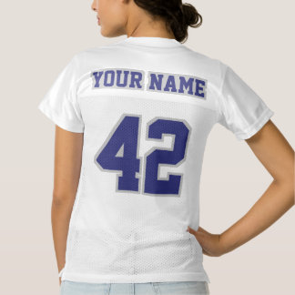 2 Side NAVY SILVER GRAY WHITE Womens Sport Jersey