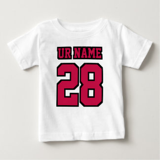 2 Side WHITE CRIMSON RED BLACK Football Crewneck Baby T-Shirt