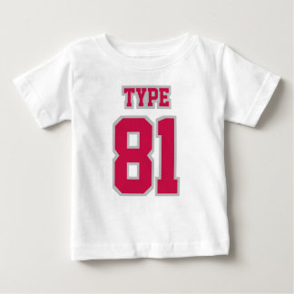 2 Side WHITE CRIMSON SILVER Football Crewneck Baby T-Shirt