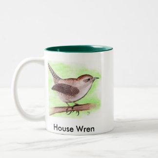 2 Sided/2Tone House Wren Mug