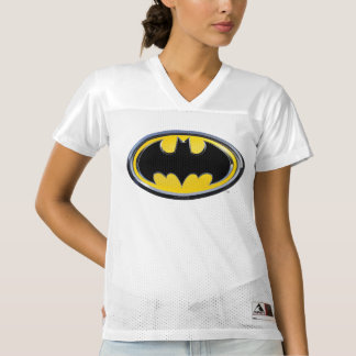 2 Sided Classic Batman Logo | Add Your Name Women's Football Jersey