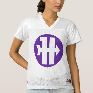 2 Sided Hawkeye Logo | Add Your Name Women's Football Jersey
