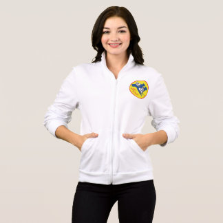 2 sided SCNA dual logo zipper fleece