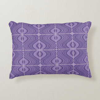 2 Sides 2 Colors - Purple/Green - Curvy/Straight Decorative Pillow