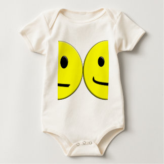 2 Sides of the Same Face Baby Bodysuit