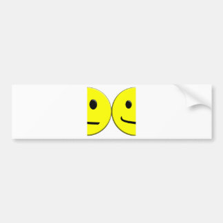 2 Sides of the Same Face Bumper Sticker