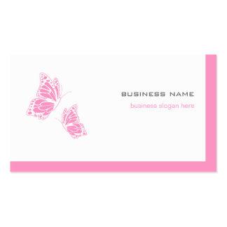 2 simples modernes élégants roses et blancs de pap cartes de visite professionnelles