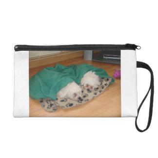 2 Sleepy_Bichon_Puppies Wristlet