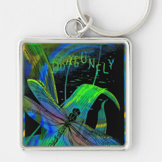 """2""""  Square Dragonfly Keychain"""