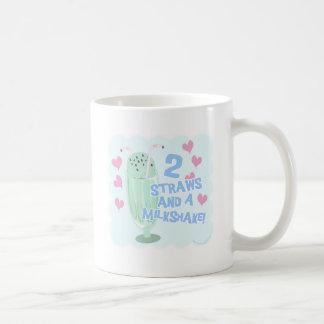 2 Straws and a Milkshake Coffee Mug