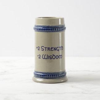 +2 Strength, -2 Wisdom Beer Steins