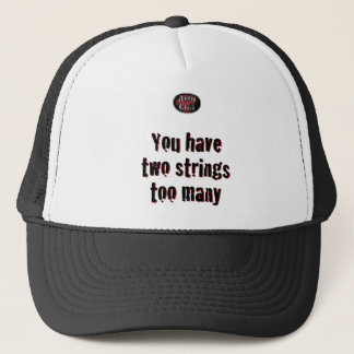 2 Strings on White Trucker Hat