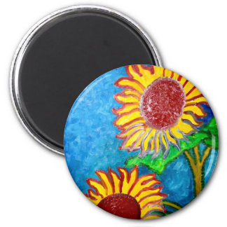 2 Sunflowers by Piliero Magnet