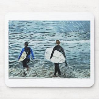 2 surfers mousepads