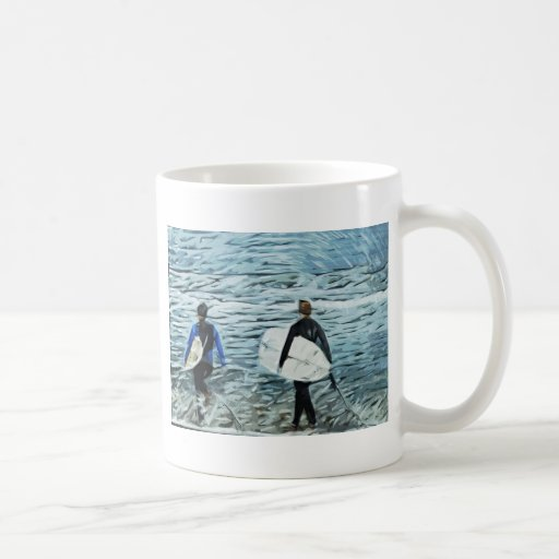 2 surfers mug