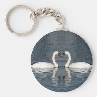 2 Swans Keychain
