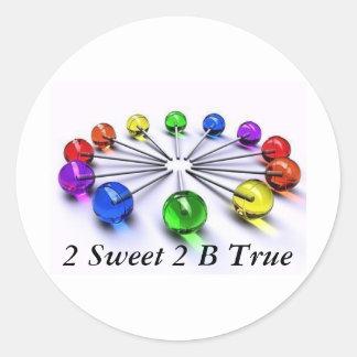 2 Sweet 2 B True Lollipop Sticker