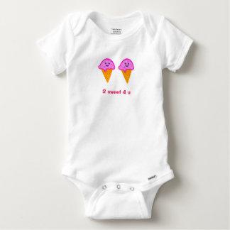 2 Sweet 4 U Ice Cream Print Baby Gerber Bodysuit