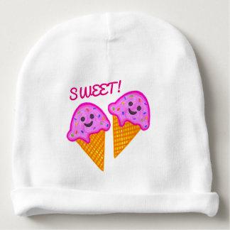 """""""2 Sweet 4 U"""" Pink Ice Cream Baby Beanie"""